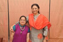 Dr. Rekha Ramachandran on the right with her daughter Babli with down syndrome on the left