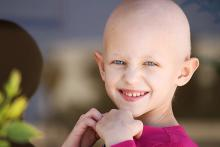 Child with bald head