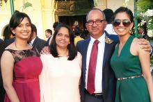 Epilepsy Survivor for 4 decades Ignatius Misquitta with his wife and daughters