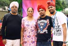 Thalassemia patient Gagandeep Singh Chandok is on the right most in white T-shirt with his  brother and his parents