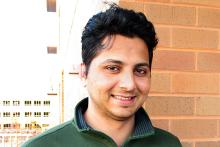 Profile pic of Sagar Shanbag, a young man with green polo tshirt with a profile brick wall in the background