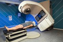 Image of a person undergoing radiation therapy