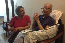 Sangeeta reliving memories with her father with Parkinson's