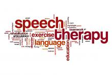 Stroke Speech Therapy Rehabilitation Word Cloud