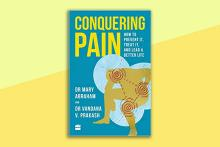 Book cover of the book Conquering Pain Dr Mary Abraham and Dr Vandana V Prakash