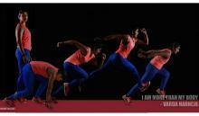 Image: Varda harneja in different postures of running