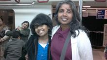 Image: Deepa Jacob with her daughter Asawari a musical talent who died of a rare form of leukemia
