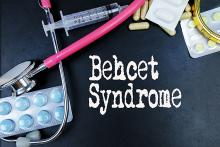 stock pic that says Behcet Syndrome and shows medical supplies