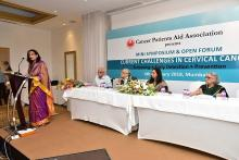 Dr. Sarita Bhalerao speaking at the CPAA UICC Cervical Cancer symposium