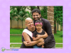 Woman with metastatic breast cancer with her husband and daughter