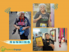 A picture collage of a 76 year old woman who loves to run